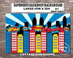 Superman Birthday Party Decoration Ideas Superhero Decoration Etsy