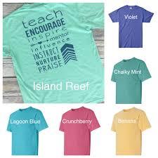 Comfort Colors Chalky Mint Comfort Colors Monogrammed Teacher T Shirt Teacher T Shirt