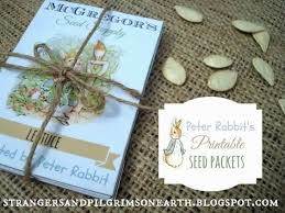 free peter rabbit u0027s printable seed packets