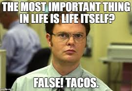 Taco Memes - dwight schrute meme imgflip