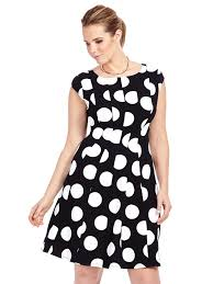 robbie bee black u0026 white polka dot dress gwynnie bee