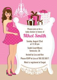 girl baby shower modern crib it s a girl baby shower invitations candles and