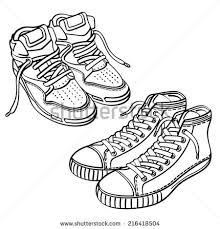 sketch shoes men women moccasins sneakers stock vector 230700448