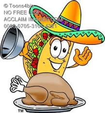 taco character on thanksgiving