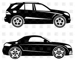 silhouettes of cars side view vector clipart image 86013