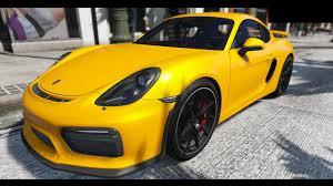 porsche cayman yellow 2016 porsche cayman gt4 hq gta5 mods com