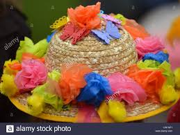 easter bonnet easter bonnet with flowers made from cut up supermarket plastic