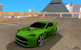 green aston martin aston martin vantage v8 green shark tuning for gta san andreas