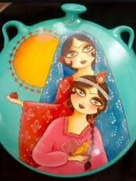 haji firooz doll water color khatoon gallery