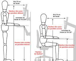 hauteur bureau ergonomie ergonomie et aménagement de poste de travail pour les industries