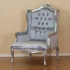 louis xv wing chair silver indonesian french furniture teak