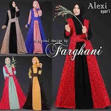 gamis modern busana muslim model gamis modern alexi farghani