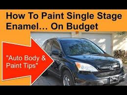 how to paint single stage enamel urethane paints youtube