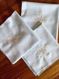 machine embroidery designs for kitchen towels vintage napkins embroidery monogram table linens personalized