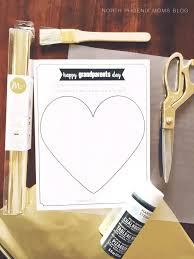 grandparents day printable my hand on this heart