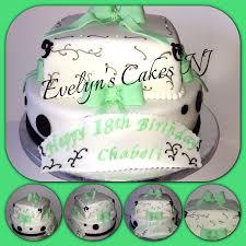 18th birthday top layer dominican cake w vanilla custard bottom