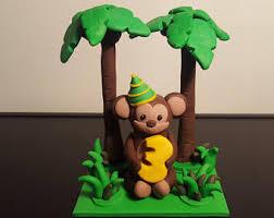 monkey cake topper monkey cake decorations edible monkey cake topper monkey