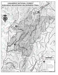 North Carolina State Parks Map by National Forests In North Carolina Birkhead Mountains Wilderness