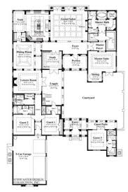 courtyard floor plans courtyard home plans globalchinasummerschool com