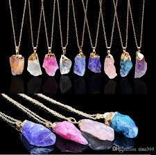 purple crystal stone necklace images Wholesale multicolor jewelry natural crystal stone phnom penh jpg