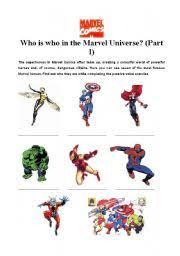 english teaching worksheets superheroes