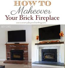 Diy Fireplace Cover Up Best 25 Brick Fireplace Redo Ideas On Pinterest Brick Fireplace
