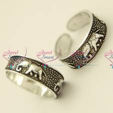 buy rings silver images Tr5230 silver 925 toe rings elephant design comfortable smooth JPG