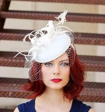tea party hats fascinator white fascinator with veil womens tea party hat