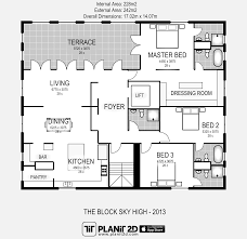 software to design kitchen the block sky high 2013 floorplan planit2d