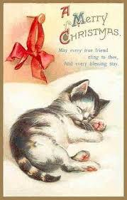 Victorian Christmas Card Designs Vintage Kitty Christmas Cards Vintage Christmas Vintage Cards