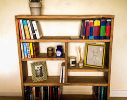 Small Rustic Bookcase Low Bookcase Etsy
