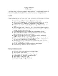 Catering Manager Resume Creative Director Responsibilities Creative Director Cv Work