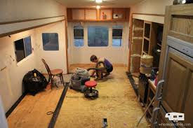 Installing Laminate Flooring In Rv Our Fifth Wheel Mid Renovation Tour Wheeled And Free