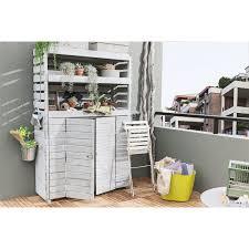 desserte de jardin leroy merlin armoire de jardin bois helka naturelle l 131 x h 197 x p 69 cm