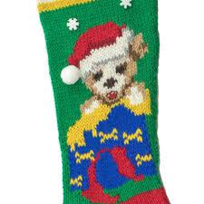 christmas pup stocking knitting kit 7056k