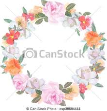Wedding Flowers Drawing Eps Vector Of Wedding Flowers Vector Design Frame Rose Colorful
