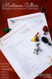 printable montessori curriculum montessori culture 3 6 checklists montessori zoology and botany