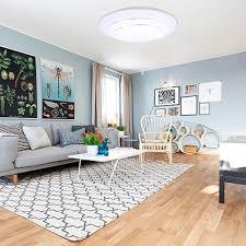 Ceiling Lights For Bedrooms 24w Round Led Ceiling Light Fixture Flush 2000 Lumen White Bedroom