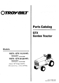 troy bilt lawn mower 13076 gtx 20 user guide manualsonline com