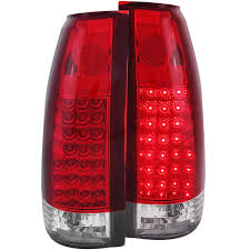 amazon com anzo usa 311004 chevrolet red clear led tail light