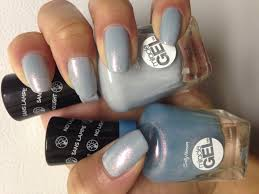 sally hansen gel nail polish in the colors lets get digital and