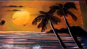 Spray Paint Artist - amazing ocean sunset spray paint art video cool boomsbeat