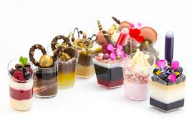 dessert canapes dessert canapes stock image image of creuffs icecream 60224947