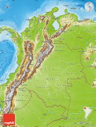 Physical Maps Physical Map Of Colombia