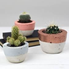 white concrete colour block planter by bells and whistles make