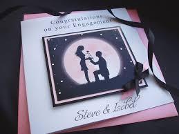 Congratulations Engagement Card Handmade Engagement Card Moon Handmade Cards Pink U0026 Posh