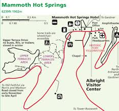 Yellowstone Lodging Map Mammoth Springs Map Alltrips