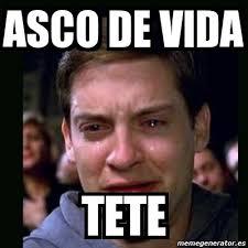 Meme Asco - meme crying peter parker asco de vida tete 2989214