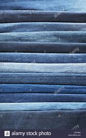 different shades of blue jeans denim fabrics stock photo royalty