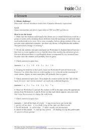 idioms challenge answer key